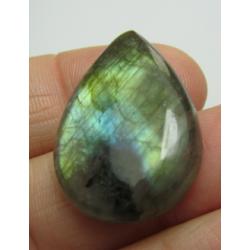 Natural  Labradorite  Drop Cabochon  28 x 20   mm - 1 pc