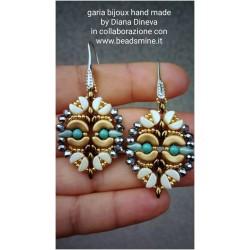 Olivia  Earrings Kit  gold/green version  (material kit)