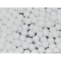 RounDuo® Beads 5 mm  Chalk White  - 30 pcs
