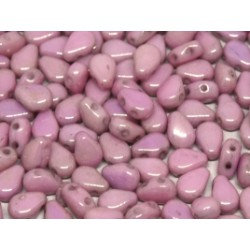 Round DropDuo 5 x 7 mm Opaque Rose Luster - 30 pcs
