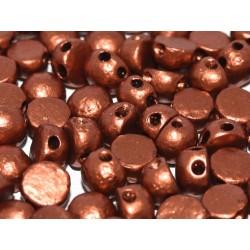 Cabochon Doppio Foro 6 mm  Etched Copper -  10 pz