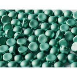 Cabochon Doppio Foro 6 mm Metallic  Emerald  - 10 pz