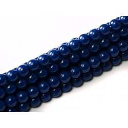 Perle Cerate in Vetro 6 mm Royal Blue - 25 Pz