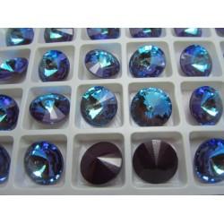 Rivoli Vetro Alta Qualità 14 mm  Ultrashine Blue/Bordeaux - 1 pz