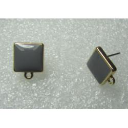 Perno Quadrato Smaltato 10 mm Color Grigio/Oro - 2 pz