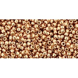 Rocailles Toho 15/0 Permanent Finish Galvanized Rose Gold