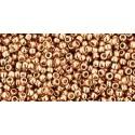 Rocailles Toho 15/0 Permanent Finish Galvanized Rose Gold - 10 g