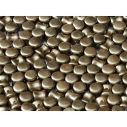 Diabolo Shape Beads  6x4 mm  Pastel Light Brown -  30 pcs