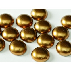 Cabochon Cerato  in Vetro di Boemia Tondo 14 mm Gold  - 2 pz