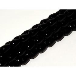Goccia/Briolette Cerata Vetro 7x5  mm Black   - 20 pz