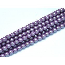 Glass Pearls 3 mm Pearl Shell Lilac - 50 pcs