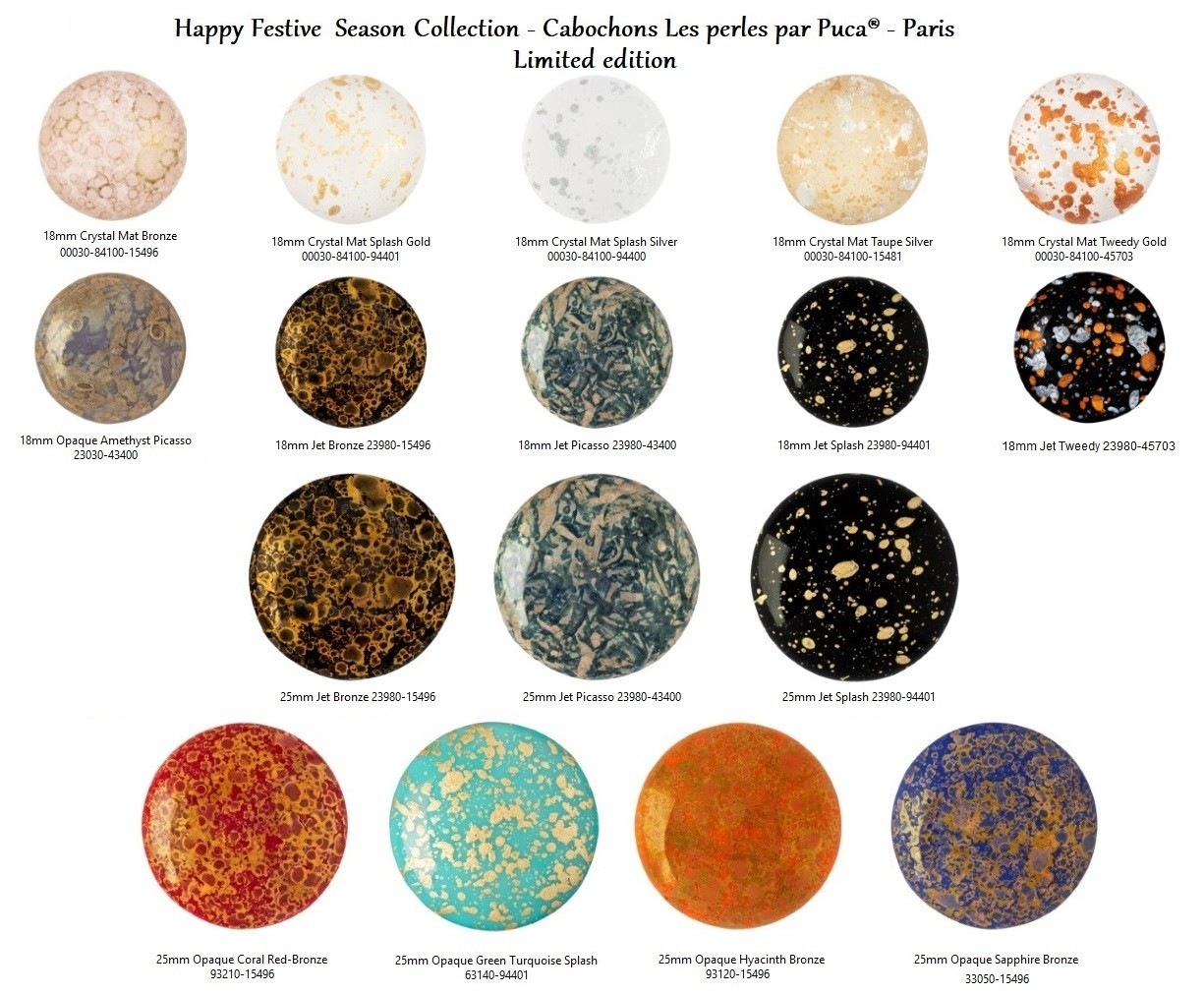 Cabochon Par Puca Happy Festive Season Collection